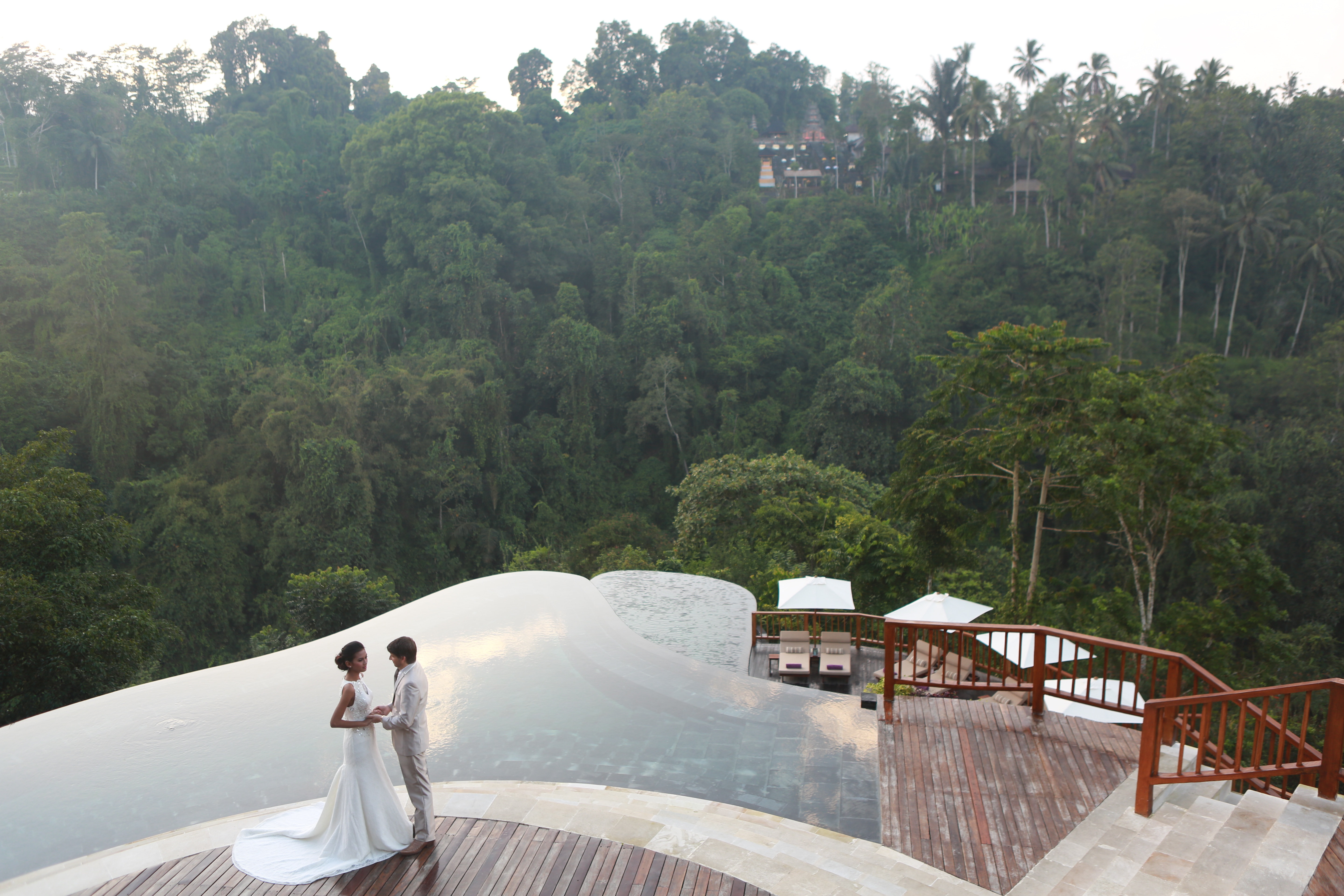 Bali gay weddings at the world s best swimming pool at for Hanging garden pool ubud