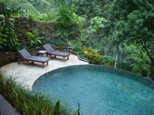 Pool villa over view stunning Ubud Valley